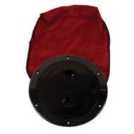 """Beckson 6"""" Stow-Away Deck Plate - Black w\/12"""" Bag"""
