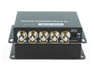 1x4 (1:4) 4-Way Composite BNC Video Splitter Distribution Amplifier SB-3701BNC