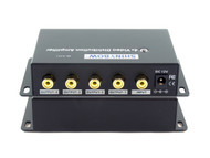 1x4 (1:4) 4-Way Composite RCA Video Splitter Distribution Amplifier SB-3701RCA