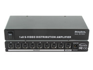 1x8 (1:8) 8-Way S-Video (Y/C) Video Splitter Distribution Amplifier SB-3706SV