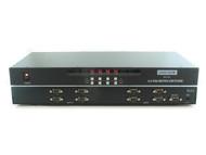 4x4 (4:4) VGA PC RGBHV Video Matrix Switch Switcher + RS232?+ IR Remote SB-4140