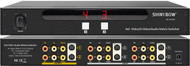 4x2 (4:2) Composite RCA S-Video + Audio Matrix Switcher with Rack Mount SB-5450M