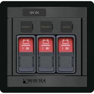 Blue Sea 1148 Remote Control Panel w\/(3) 2145 Remote Control Contura Switch