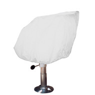 Taylor Made Helm\/Bucket\/Fixed Back Boat Seat Cover - Vinyl White
