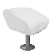 Taylor Made Folding Pedestal Boat Seat Cover - Vinyl White