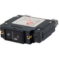 Blue Sea 7545 C-Series Flat Rocker Circuit Breaker - Single Pole - 30A