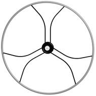 "Edson 40"" ""Double Black Diamond"" Wheel w\/Comfort Grip - Gray"