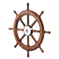 "Edson 28"" Classic Teak Yacht Wheel"