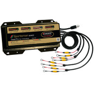 Dual Pro Sportsman Series Battery Charger - 40A - 4-10A-Banks - 12V-48V