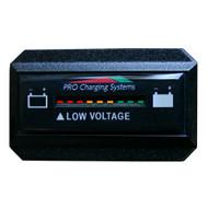 Dual Pro Battery Fuel Gauge - DeltaView Link Compatible - Rectangle - 12V System (1-12V Battery, 2-6V Batteries)