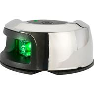 Attwood LightArmor Deck Mount Navigation Light - Stainless Steel - Starboard (green) - 2NM