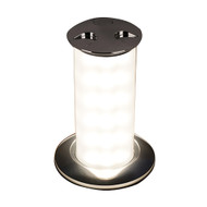 Quick Secret 6W Retractable Lamp w\/Automatic Switch IP66 Mirrored Chrome Finish - Warm White LED