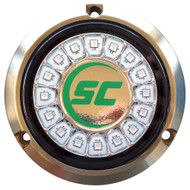 Shadow-Caster Aqua Green Single Color Underwater Light - 16 LEDs - Bronze