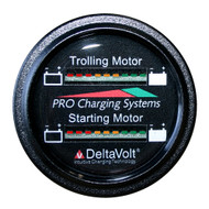 Dual Pro Battery Fuel Gauge - Marine Dual Read Battery Monitor - 12V\/24V System - 15 Battery Cable