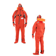 VIKING Immersion Rescue I Suit USCG\/SOLAS w\/Buoyancy Head Support - Neoprene Orange - Adult Small