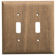 Whitecap Teak 2-Toggle Switch\/Receptacle Cover Plate