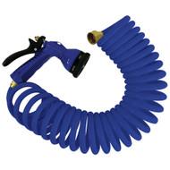 Whitecap 25 Blue Coiled Hose w\/Adjustable Nozzle