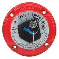 Perko Medium Duty Battery Selector Switch w\/Key Lock