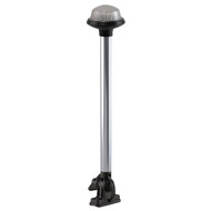 Perko Fold Down All-Round Frosted Globe Pole Light - Vertical Mount - White