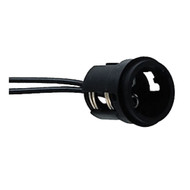 "Perko Double Contact Bayonet Socket - Black Polymer w\/10"" Pigtail"