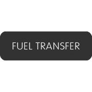 "Blue Sea Large Format Label - ""Fuel Transfer"""