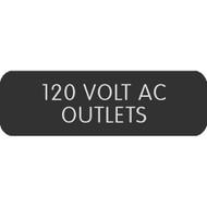 "Blue Sea Large Format Label - ""120 Volt AC Outlets"""
