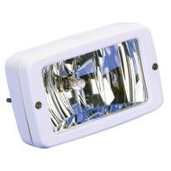 Marinco Flush Mount Halogen Deck Lamp - 12V - 55W - White