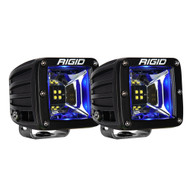 RIGID Industries Radiance Scene Lights - Surface Mount Pair - Black w\/Blue LED Backlight
