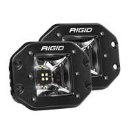 RIGID Industries Radiance Scene Lights - Flush Mount Pair - Black w\/White LED Backlight