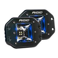 RIGID Industries Radiance Scene Lights - Flush Mount Pair - Black w\/Blue LED Backlights
