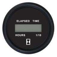 "Faria 2"" Digital Hourmeter Gauge - 12-32V - Euro Black"