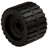 "C.E. Smith Ribbed Wobble Roller 4-3\/8"" - 3\/4""ID w\/Bushing Black"
