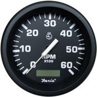 "Faria 4"" Heavy-Duty Tachometer w\/Hourmeter (6000 RPM) Gas - Black *Bulk Case of 12*"