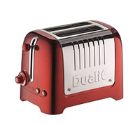 Dualit 2 Slot Lite Toaster in Metallic Red