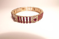 Gold and Ruby Style Bracelet