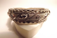 Spring Clasp Bracelet with Ornate Detail