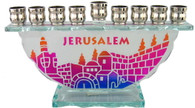 Glass 'Jerusalem' Menorah | 80608