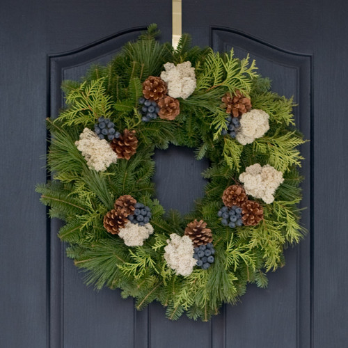 Fresh christmas wreaths holiday table centerpieces