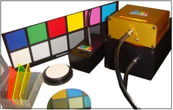 Color Measurement System includes BLACK-Comet CXR colorimeter, SL1-Filter tungsten Halogen lamp, Reflectance probe, RS50 white standard, and probe holder.