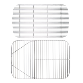 Stainless Steel Hinged Cooking Grid & Charcoal Grate for Original PK Grill & Smoker