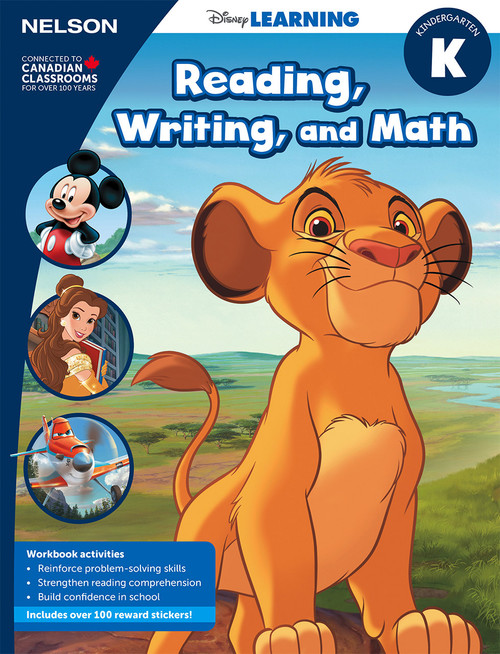 Disney Learning Series - Reading, Writing, and Math - Kindergarten - Front Cover