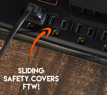 Sliding safety covers keep everyone safe