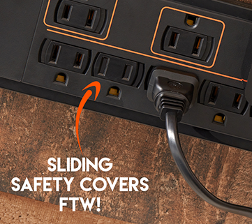 Best surge protector with sliding covers