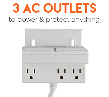 AC outlets protect and power your equipment