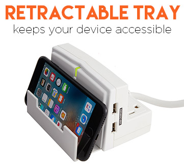 A stand props up your iphone or ipad so you can still use the screen while it's charging
