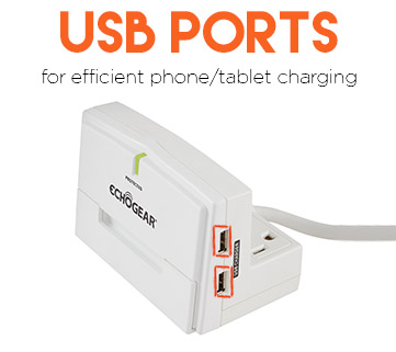 Quickly charge your iphone 7 or galaxy phone with USB ports
