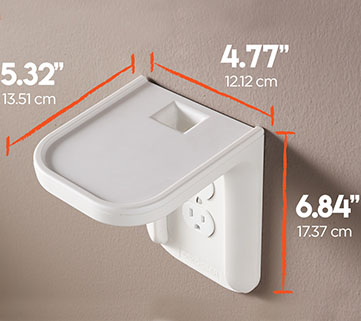 Dimensions of the outlet shelf from Echgoear