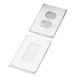 Comes with multiple outlet plates for a perfect finish