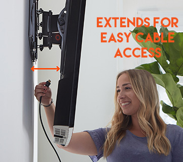 Easily access cables on the back of your tv