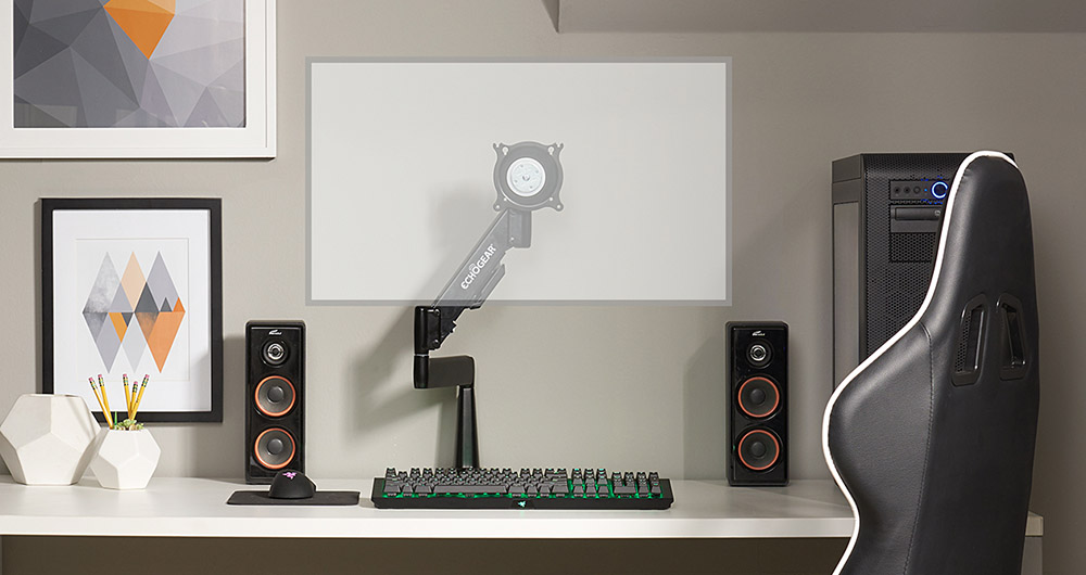 full motion computer monitor mount